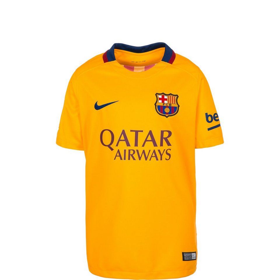 NIKE FC Barcelona Trikot Away Stadium 2015/2016 Kinder in gelb / blau
