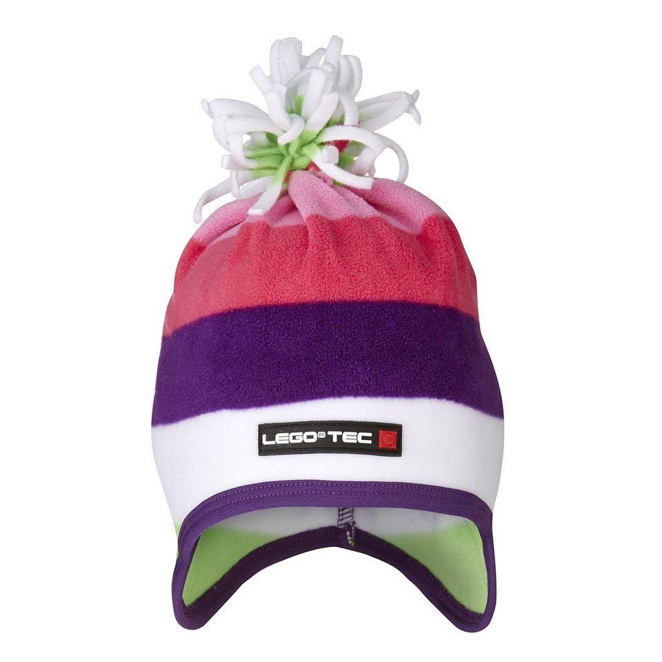 "LEGO Wear Fleece Wintermütze Kappe Skimütze LEGO® TEC AMIN Hut ""Streifen"" in violett"