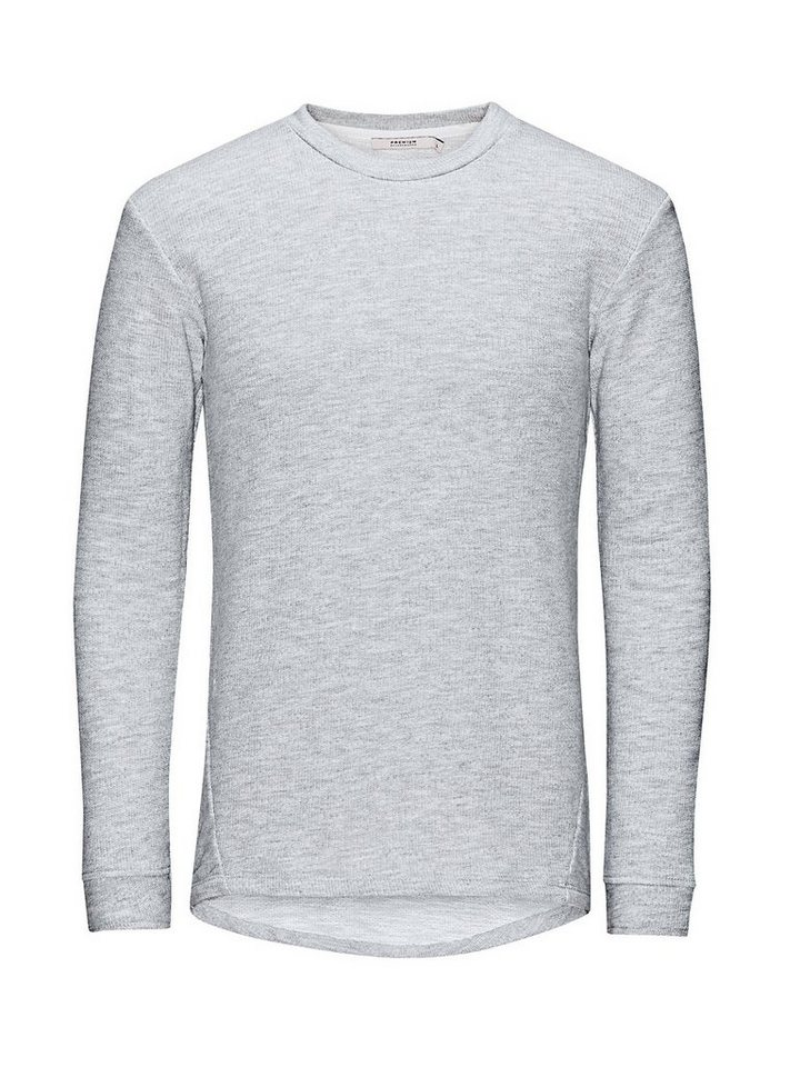 Jack & Jones Einfarbiges Long-Fit- Sweatshirt in Cool Grey