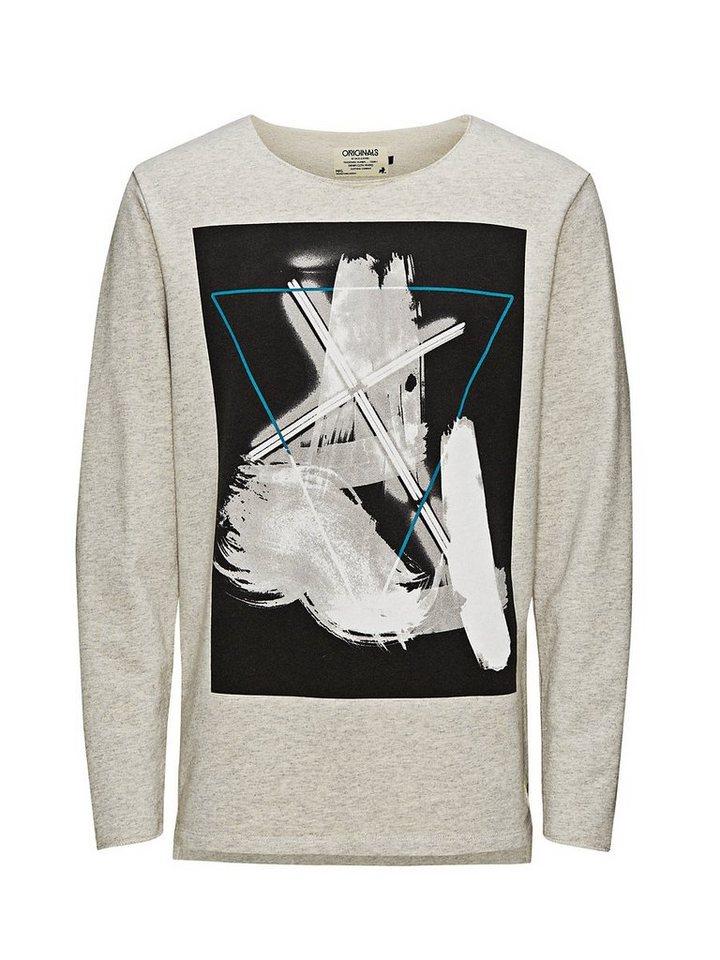 Jack & Jones Long-Fit- Sweatshirt in White