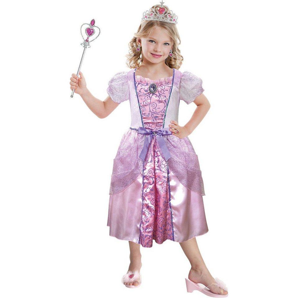 Riethmüller Kostüm pink Princess mit Schmuck-Set