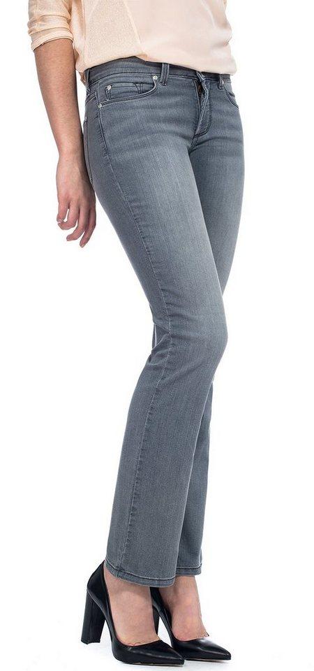 NYDJ Billie Mini Bootcut Jeans in Pearl Grey