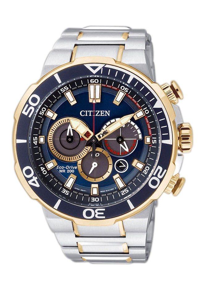 Citizen Funkchronograph »CA4254-53L« in silberfarben-goldfarben