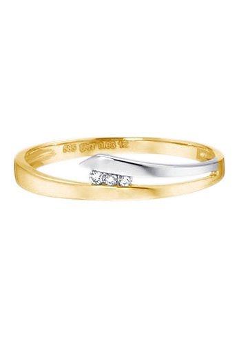 goldmaid Ring, »Pa R3249BI« in Gelbgold 585