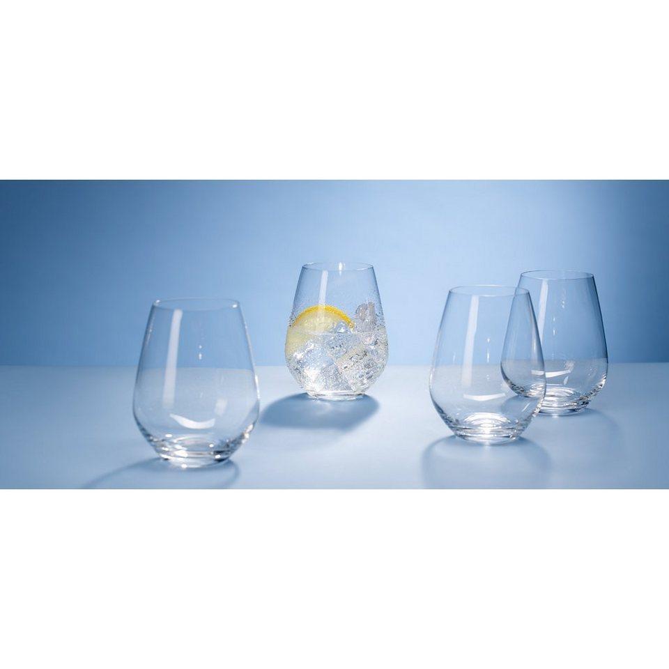VILLEROY & BOCH Wasserglas Set 4tlg 109mm »Ovid« in Weiss