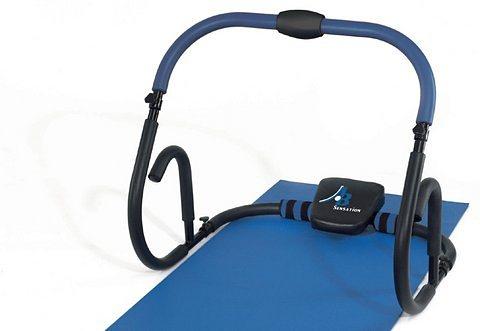Bauchmuskel-Trainer, HAMMER®, »AB Sensation« inkl. Trainingsmatte, Zusatzgewichte, Griffvarianten in schwarz/blau