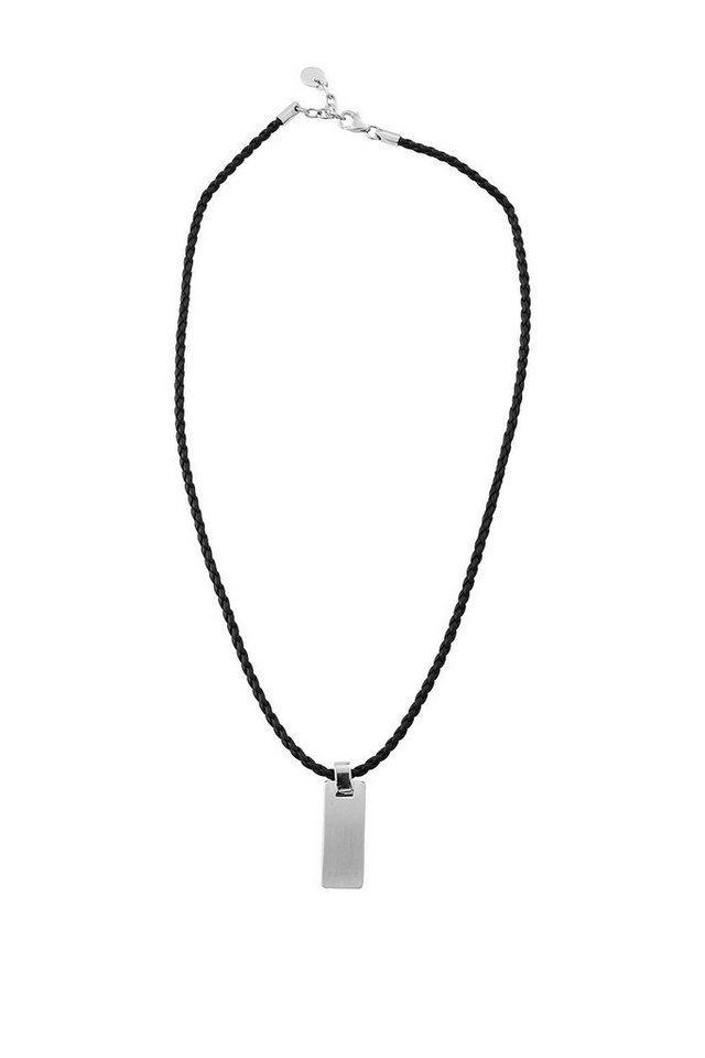 ESPRIT CASUAL Lederkette mit rechteckigem Anhänger in one colour
