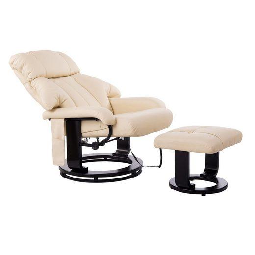 HOMCOM Massagesessel »TV Sessel und Hocker mit Massage- und Heizfunktion«