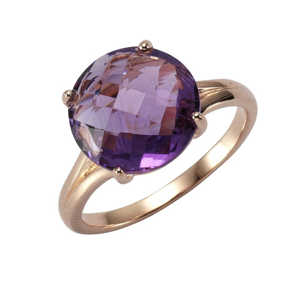 Zeeme Ring »925/- Sterling Silber Amethyst« in rot