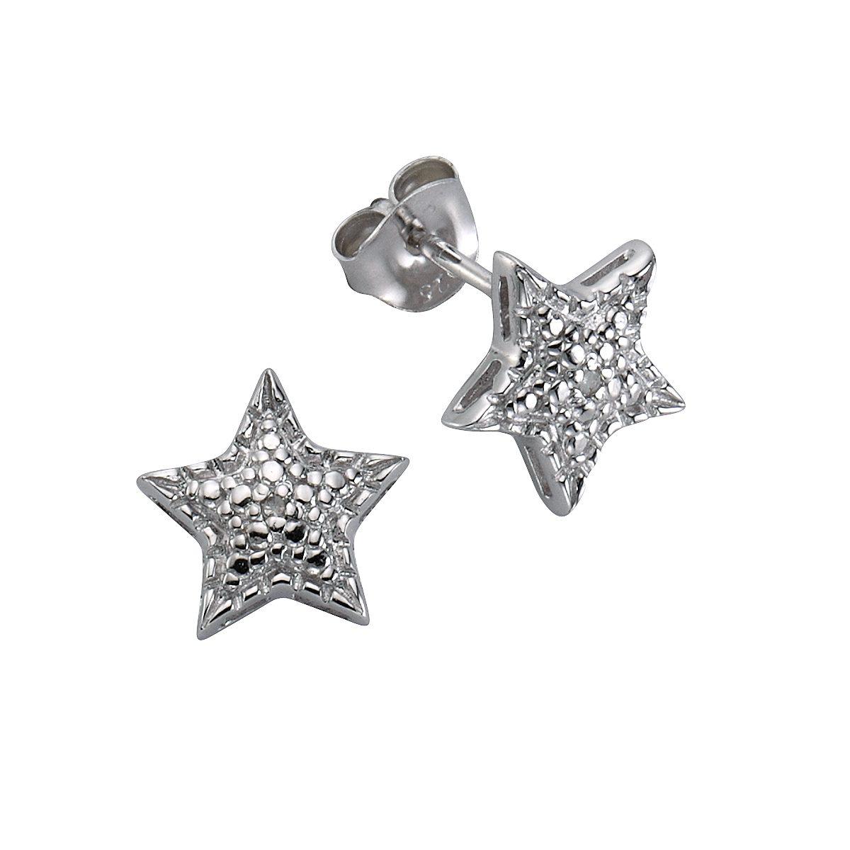 CELESTA Ohrstecker »925/- Silber 2x Diamant«