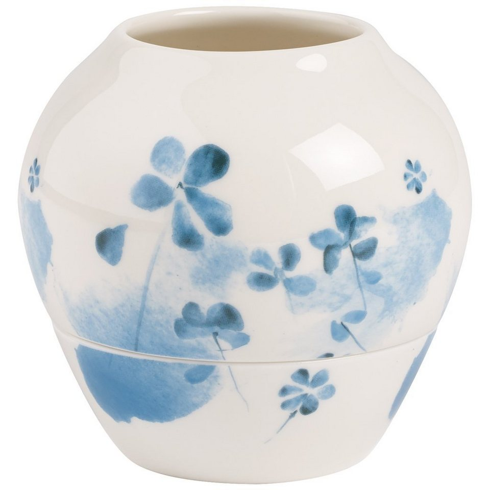 VILLEROY & BOCH Windlicht Blue Blossom 9,6cm »Little Gallery Hurr.lamp« in Dekoriert