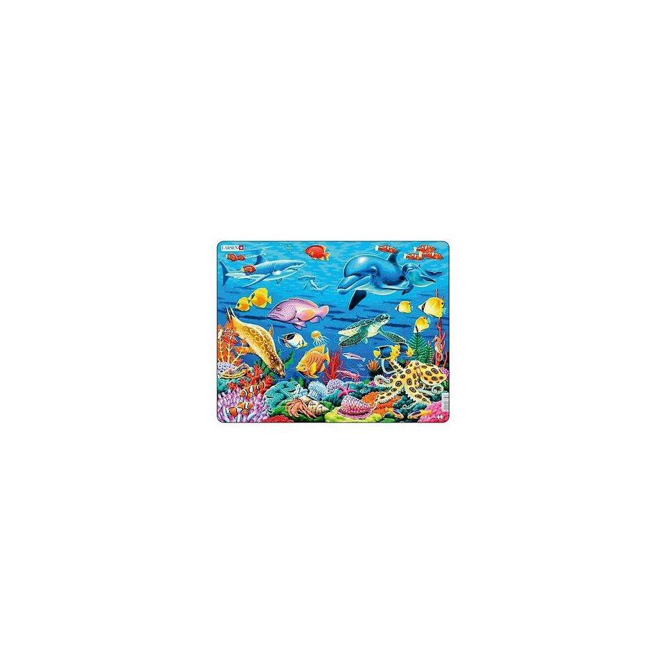 Larsen Rahmenpuzzle 35 Teile Korallenriff