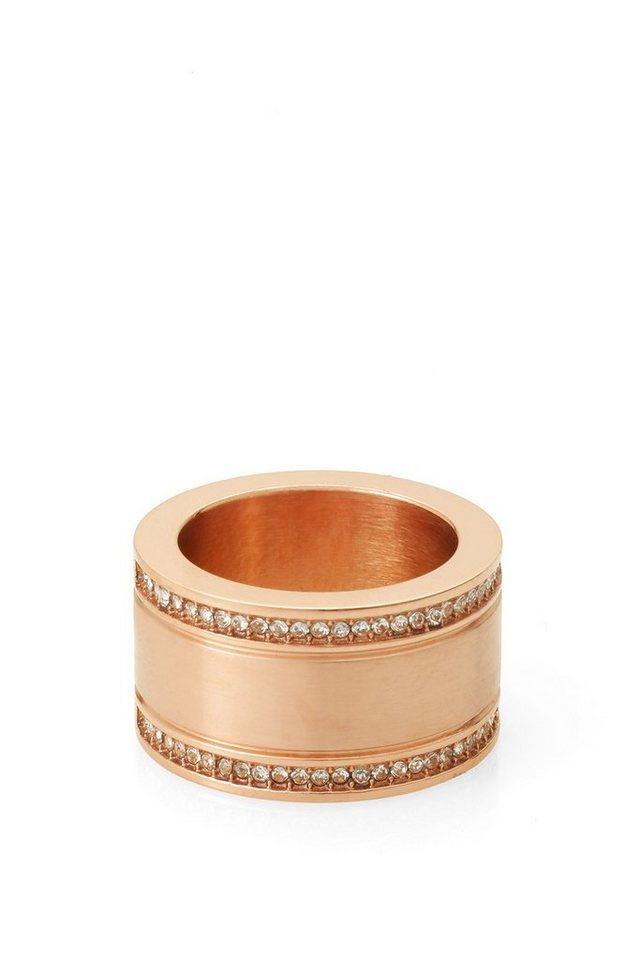 ESPRIT CASUAL Edelstahl-Ring mit Steinchen in one colour