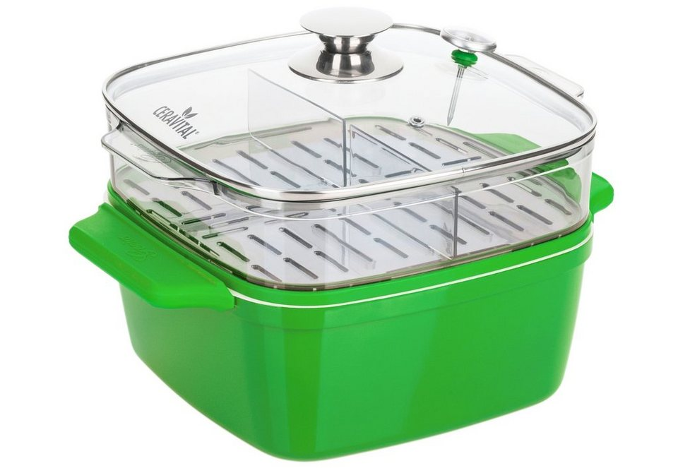 Genius® CERAVITAL, »Color-Edition 6-in-1 Brat- und Dampfgarsystem« in grün