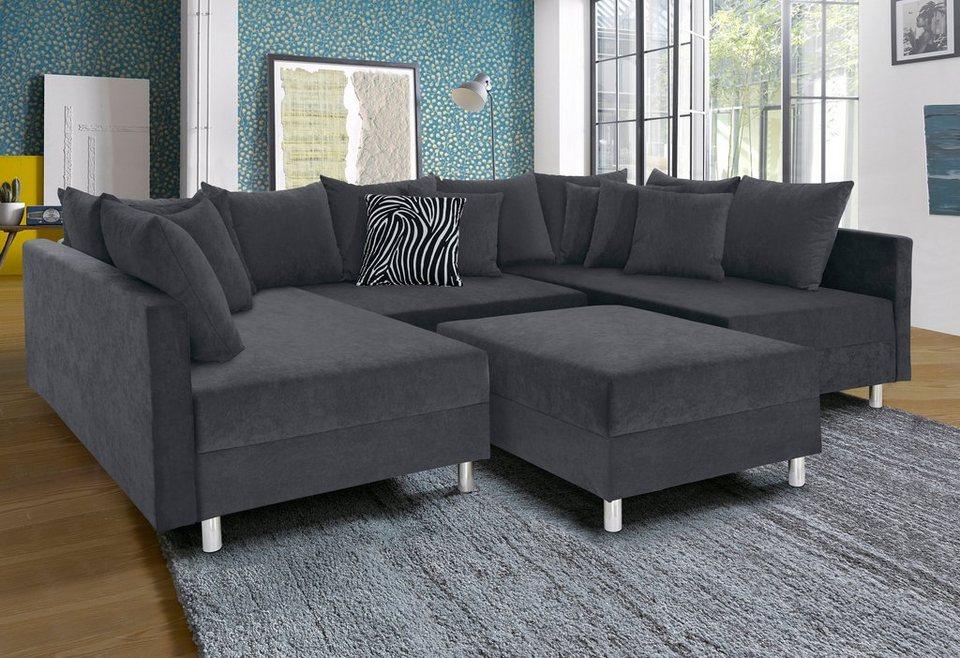 wohnlandschaft. Black Bedroom Furniture Sets. Home Design Ideas