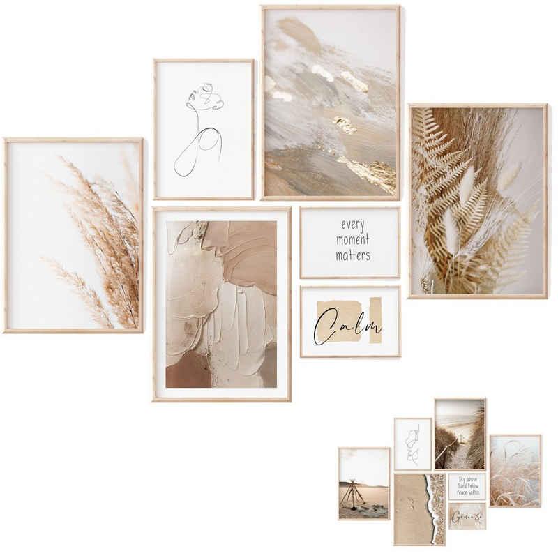 myDreamwork Poster »Premium Poster Set, 7 Beidseitige Bilder Kunstdrucke - ohne Rahmen«