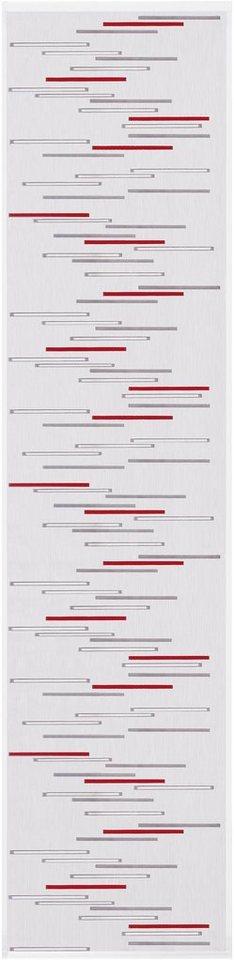 Schiebegardine, Happy Home, »MIGNON« (1 Stück mit Zubehör) in rot