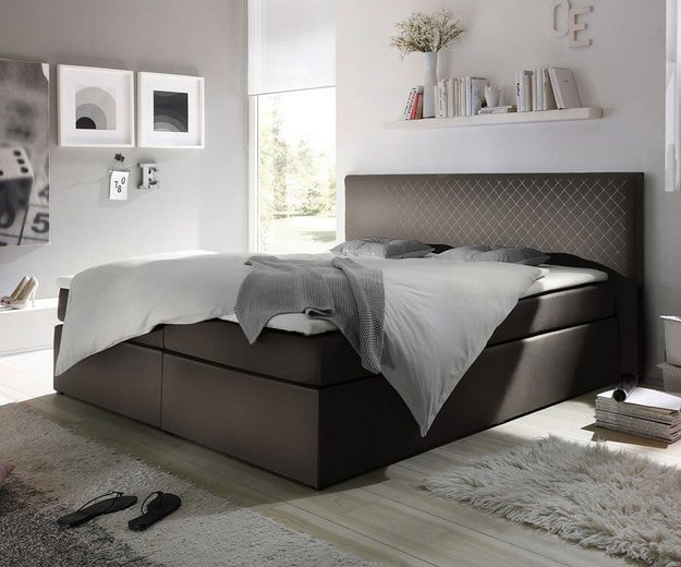 delife polsterbett stafford grau 180x200 kopfteil otto. Black Bedroom Furniture Sets. Home Design Ideas
