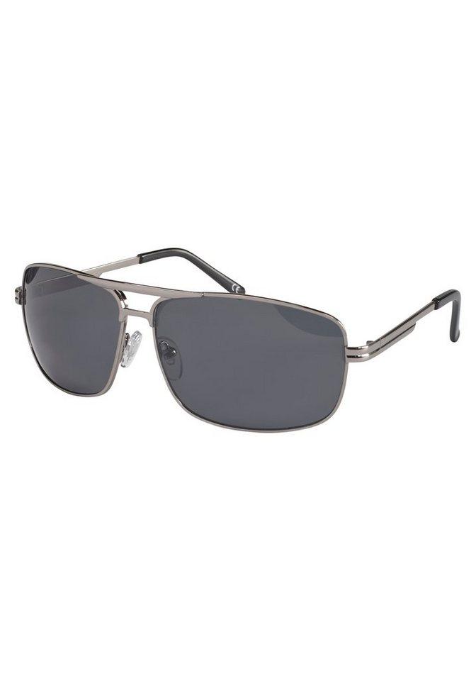 PRIMETTA Eyewear Sonnenbrille mit doppeltem Nasensteg in silberfarben