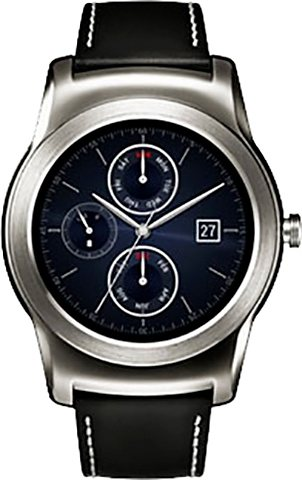 LG Urbane Smartwatch, Android Wear™, 3,3 cm (1,3 Zoll) OLED- Display, Wasserdicht in Silberfarben