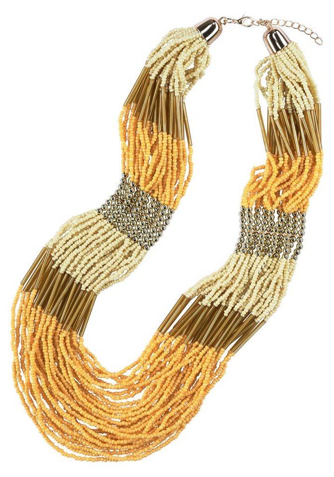 J. Jayz Kette »im Ibiza-Style« in goldfarben-gelb