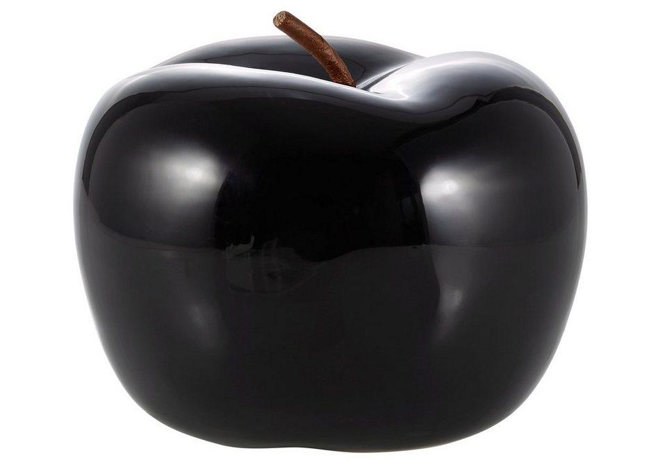 Deko-Apfel in schwarz