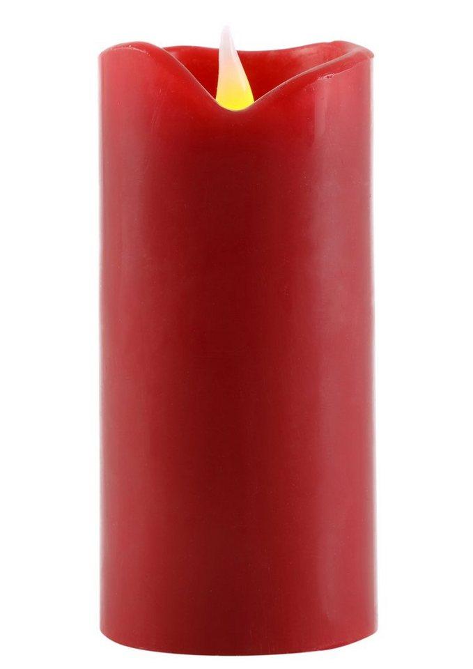 LED Echtwachskerzen-Set (4tlg.) in rot