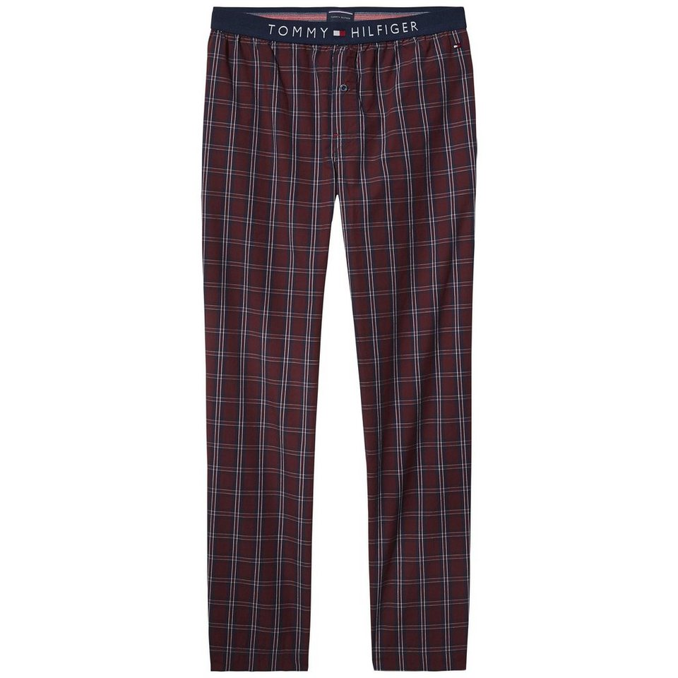 Tommy Hilfiger Tageswäsche (Unterteile) »Flag woven pant check« in CABERNET