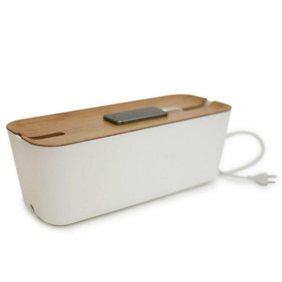 BOSIGN Bosign Kabelbox HIDEAWAY XL Weiß - Natur in weiß, braun