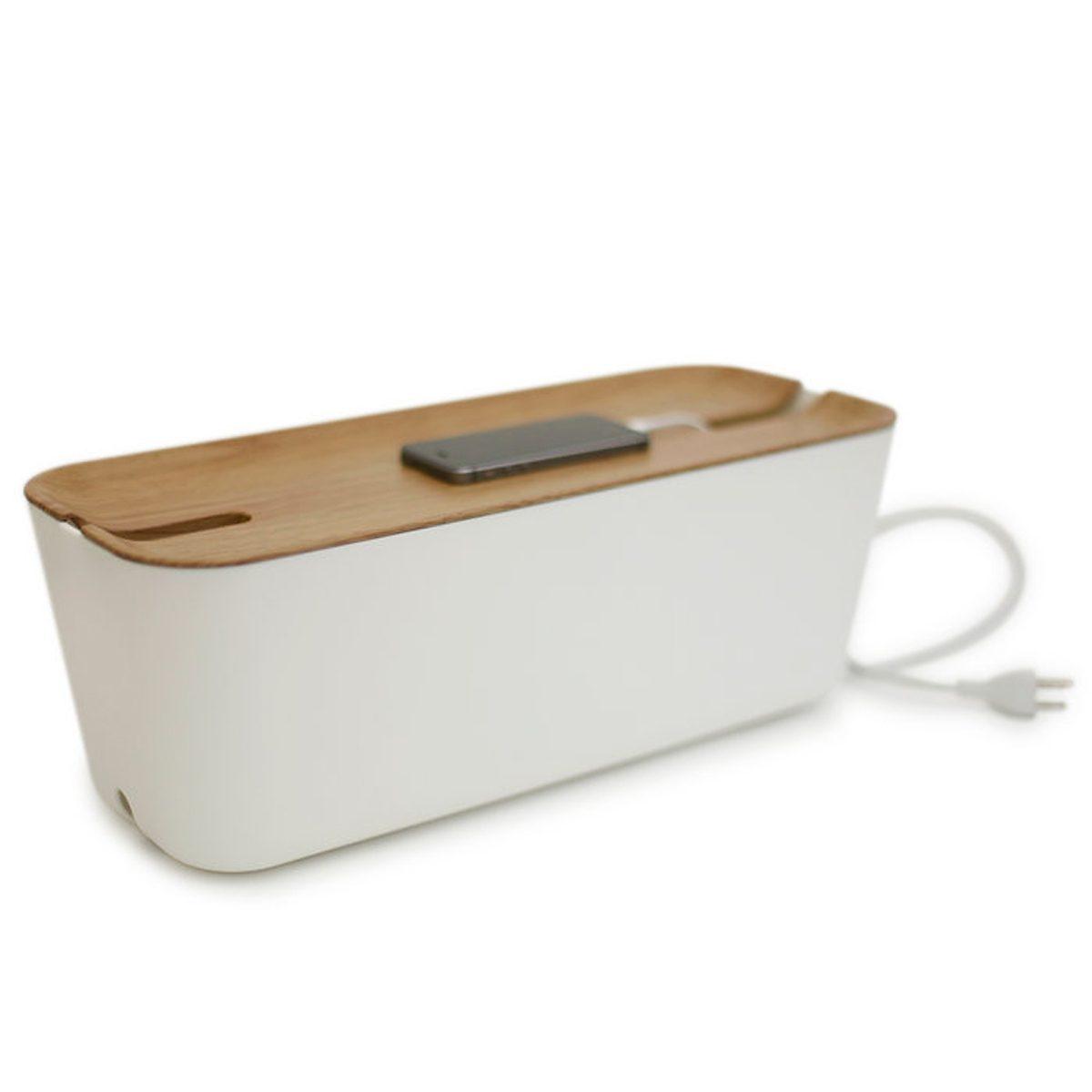BOSIGN Bosign Kabelbox HIDEAWAY XL Weiß - Natur