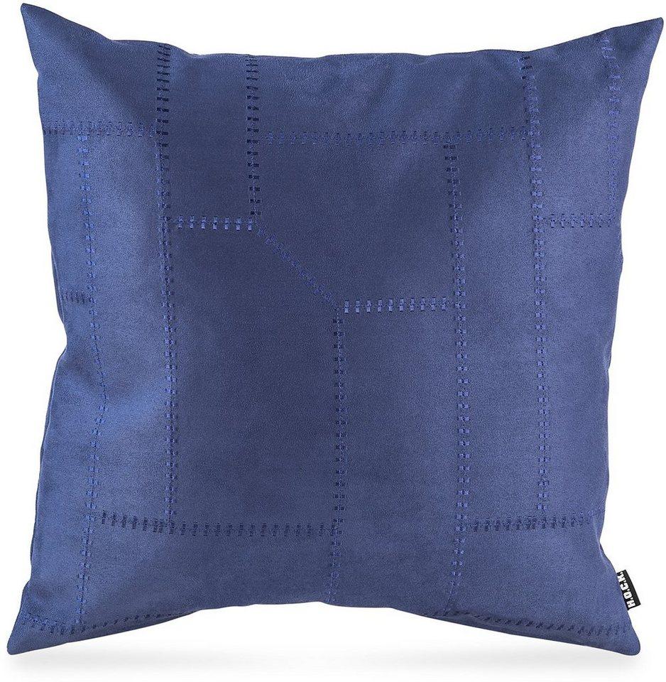 Kissen, Hock, »Mohican«, 50/50 cm in blau