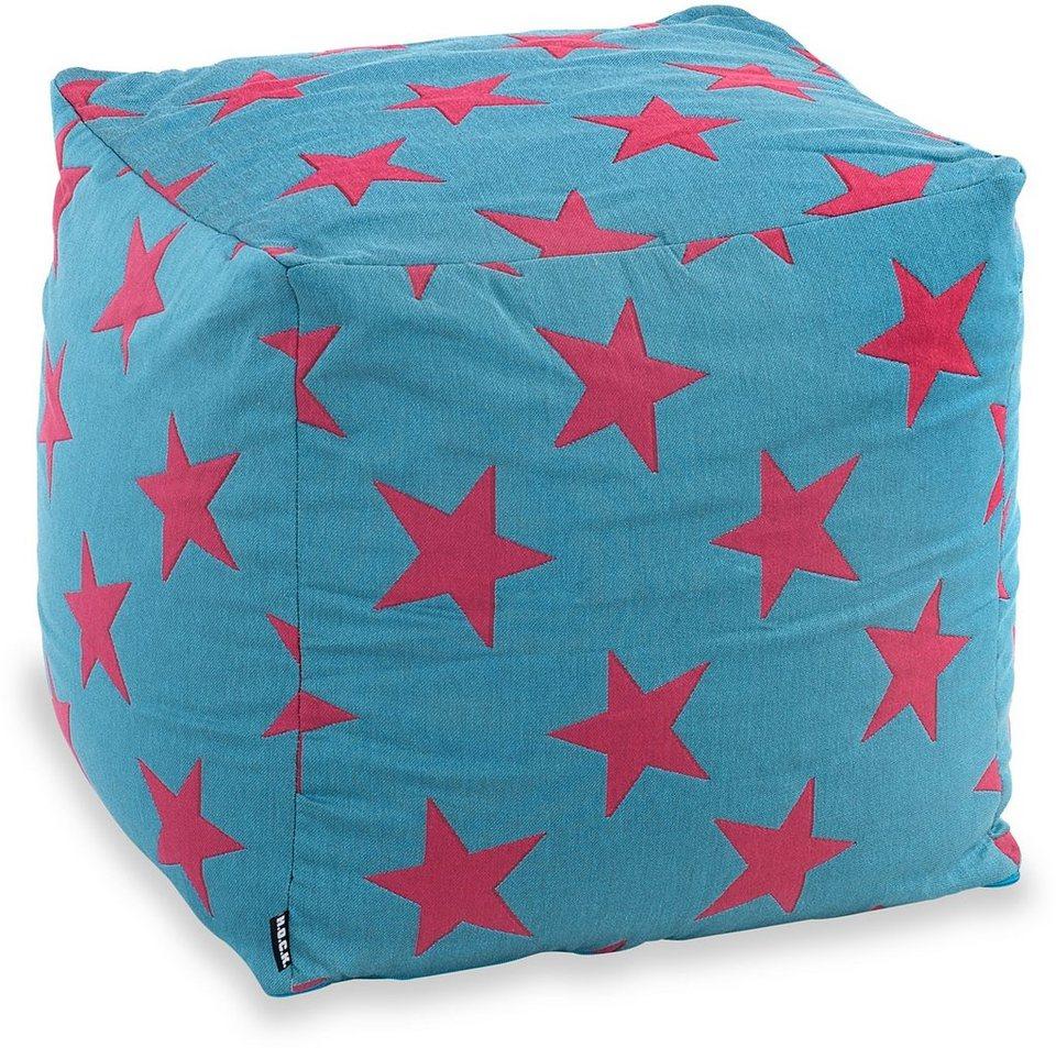 Hock, Sitzwürfel, »STARS« in türkis/pink
