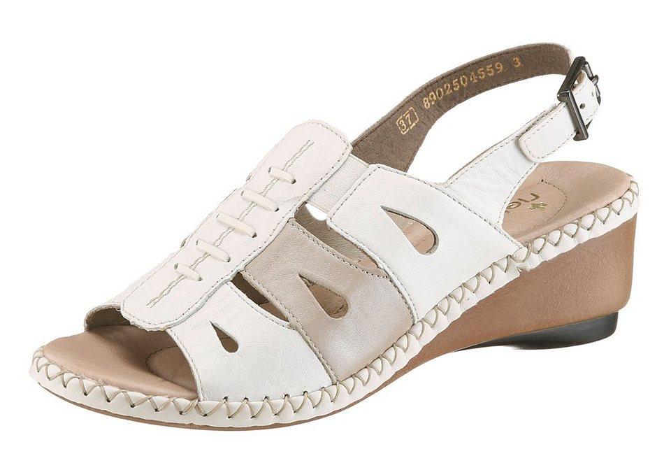 Rieker Sandalette in weiß kombiniert