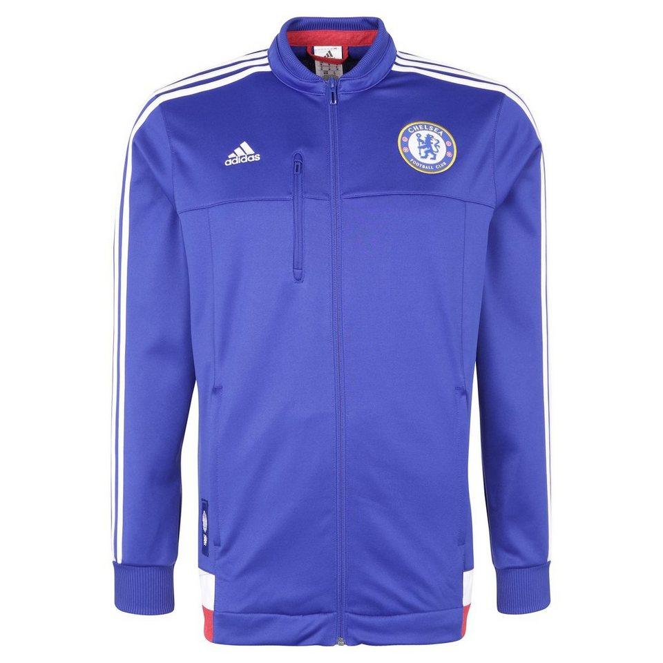 adidas Performance FC Chelsea Anthem Jacke Herren in blau / weiß / rot