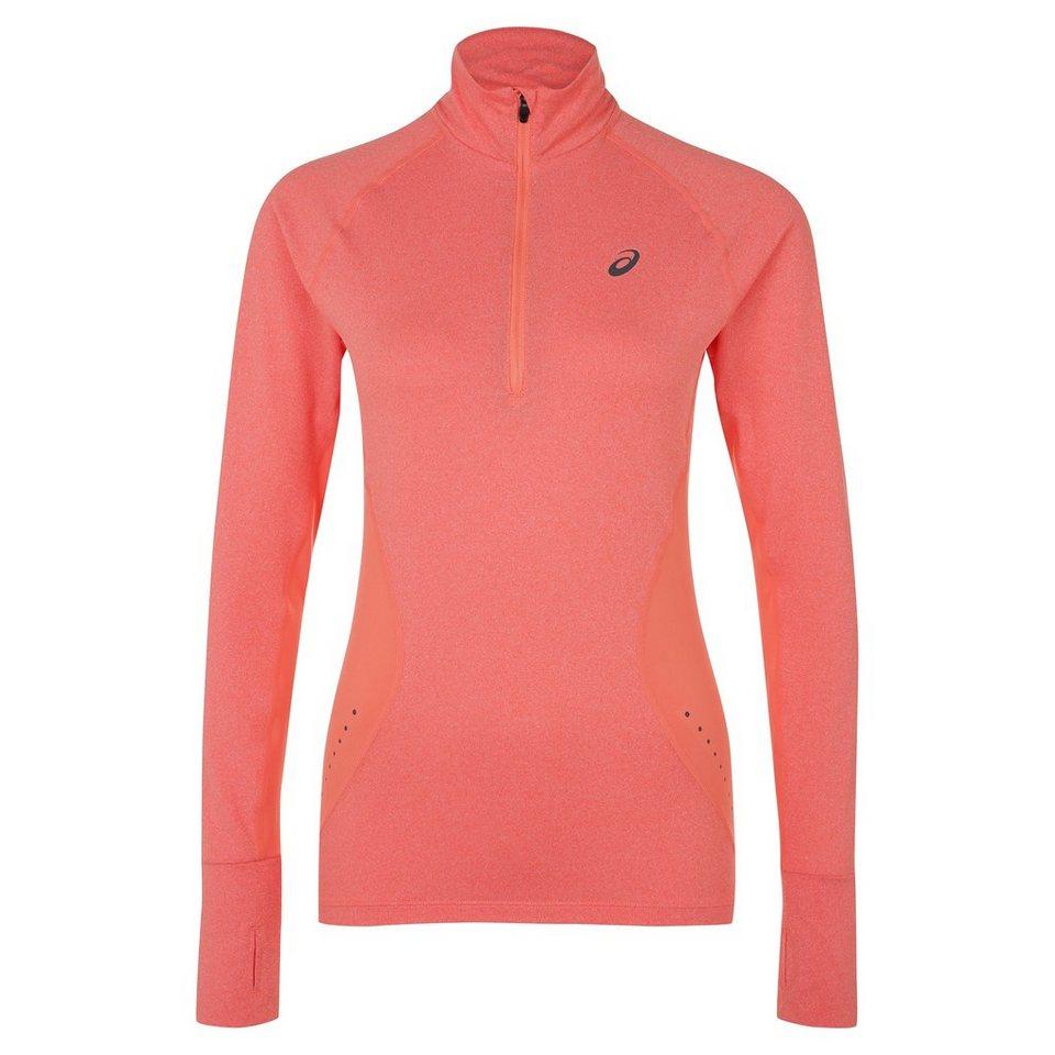 ASICS Half-Zip Jersey Laufshirt Damen in koral