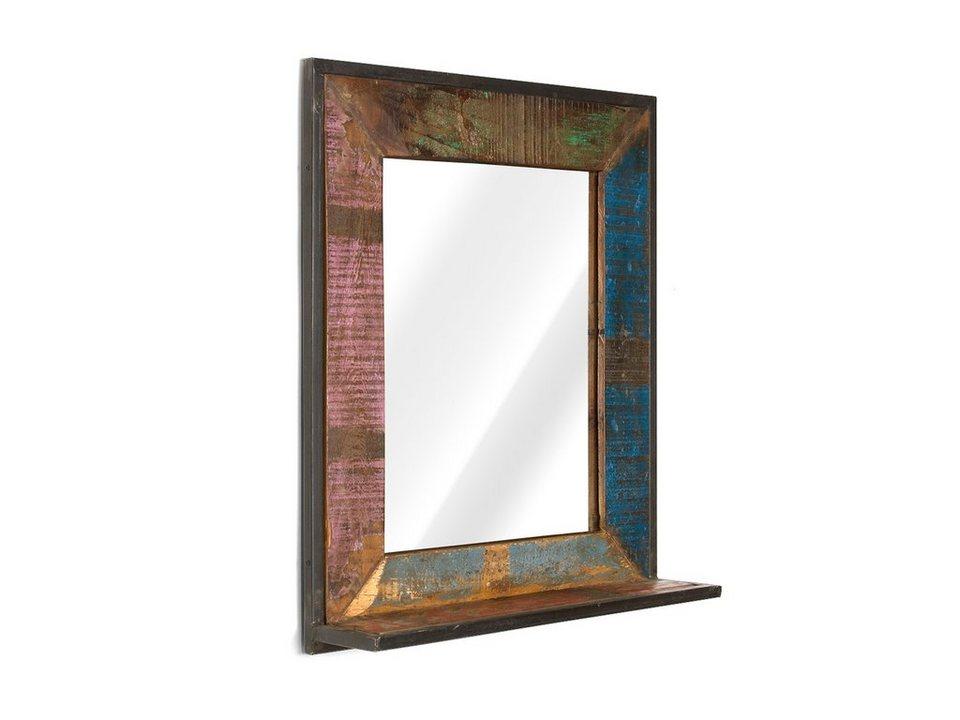 massivum Spiegel aus Hartholz massiv »Quebec« in bunt