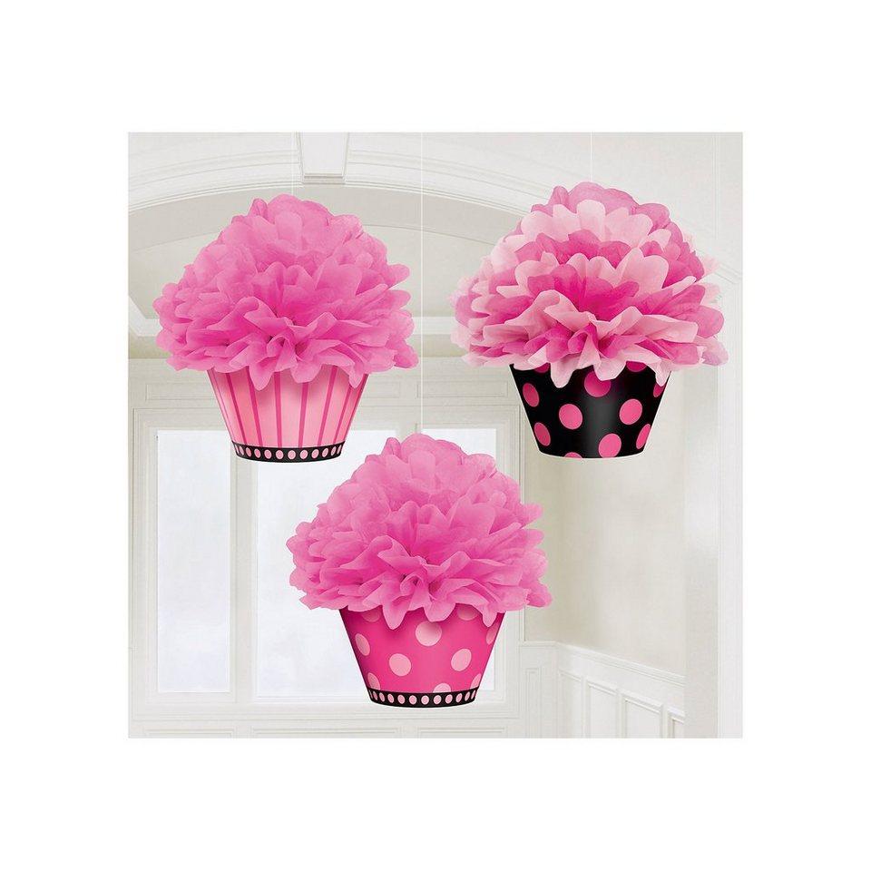 Amscan Pom Pom Cupcake, 3 Stück