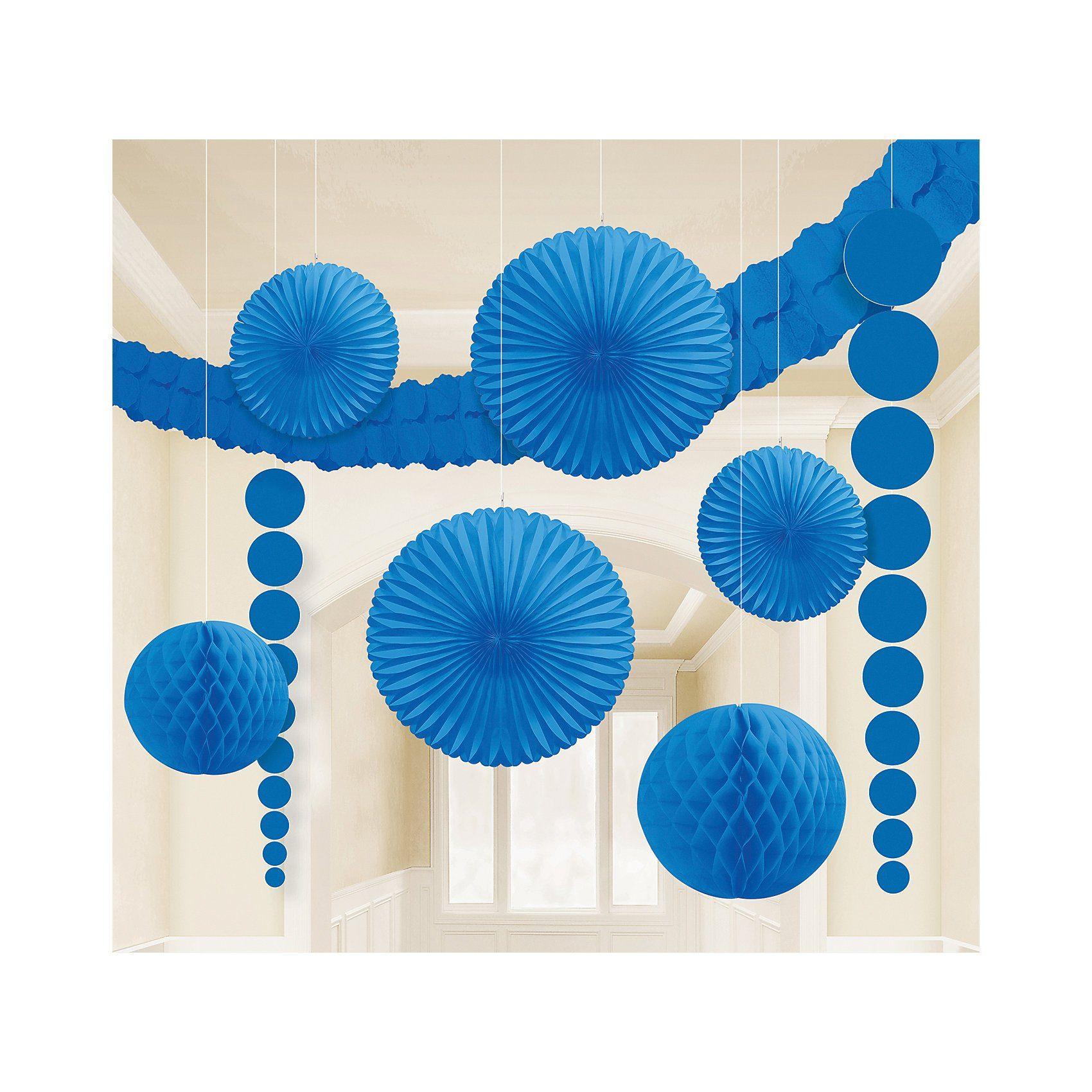 Amscan Deko-Set blau, 9-tlg.