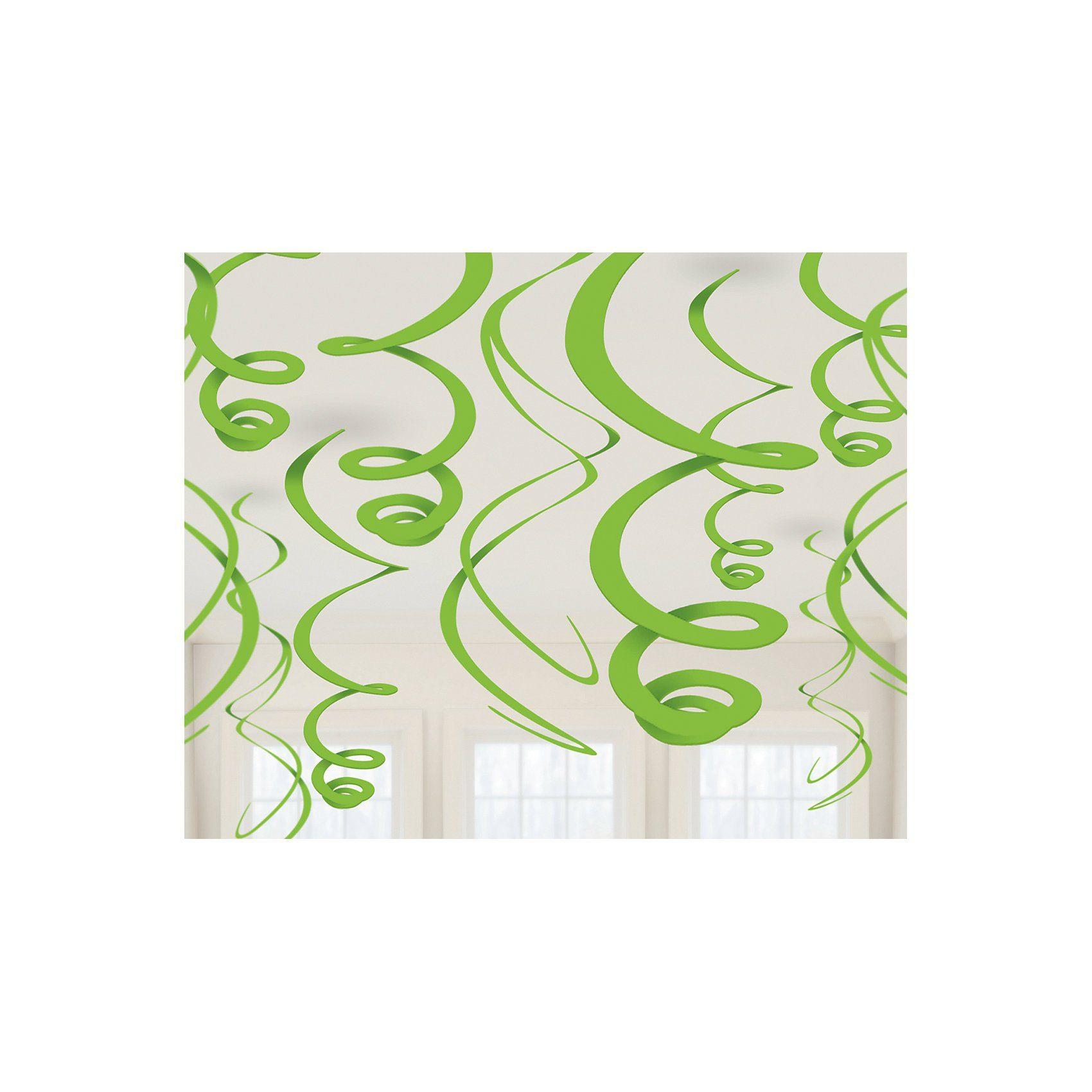 Amscan Dekospiralen grün, 12 Stück