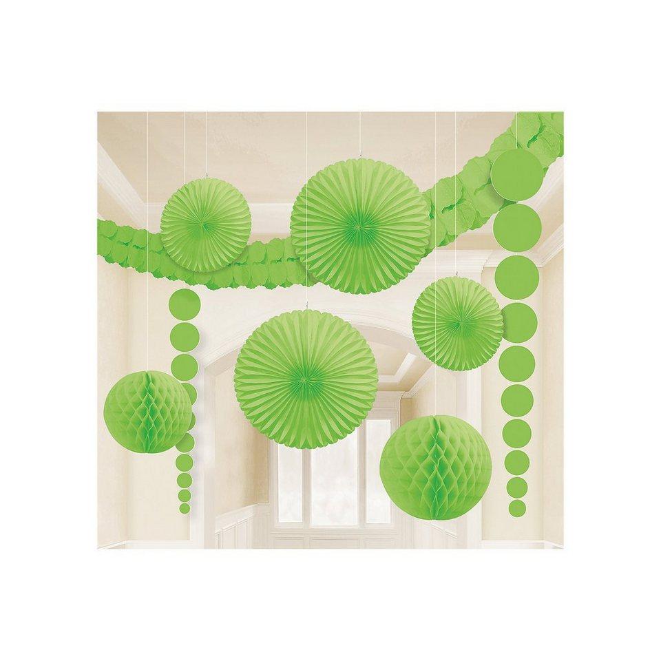 Amscan Deko-Set grün, 9-tlg. in grün