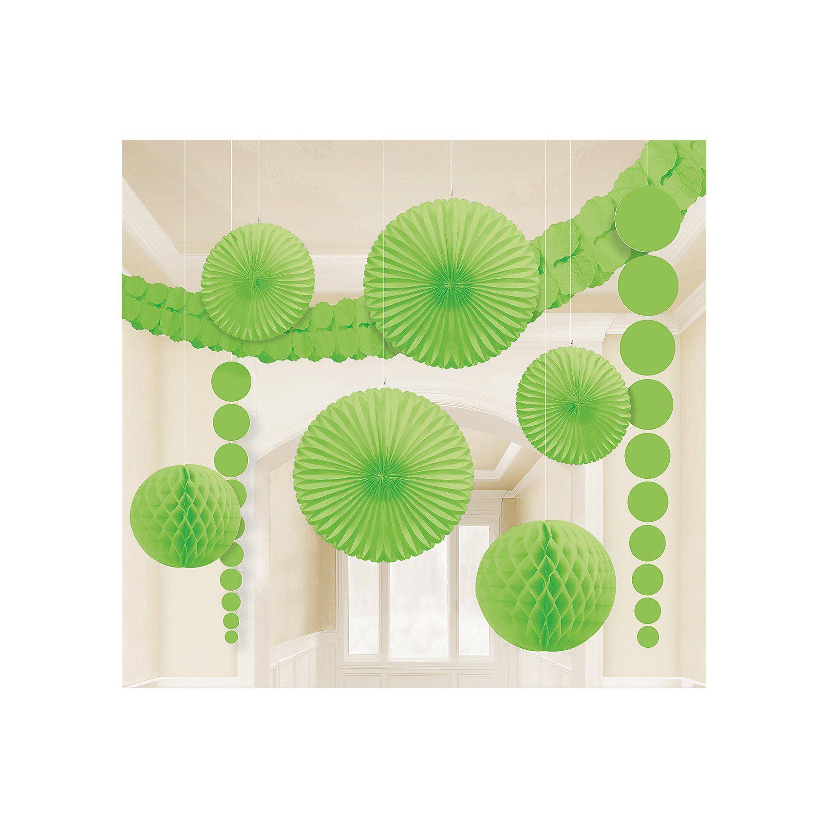 Amscan Deko-Set grün, 9-tlg.
