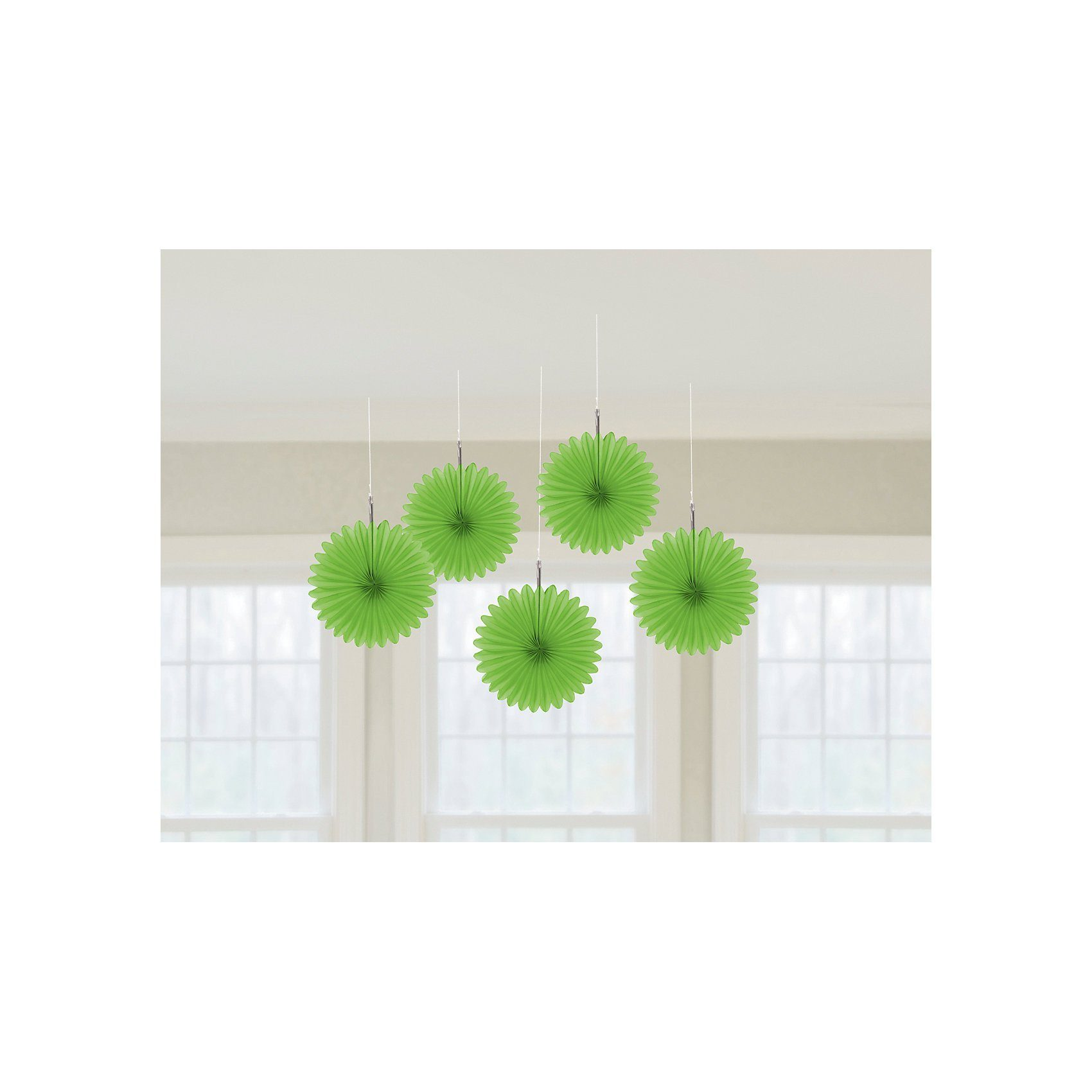 Amscan Deko-Fächer grün, 5 Stück