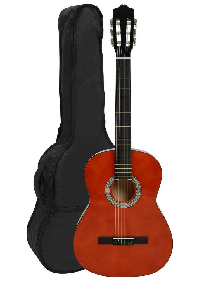 Gitarre 4/4, »Konzertgitarren-Set Honey« in braun