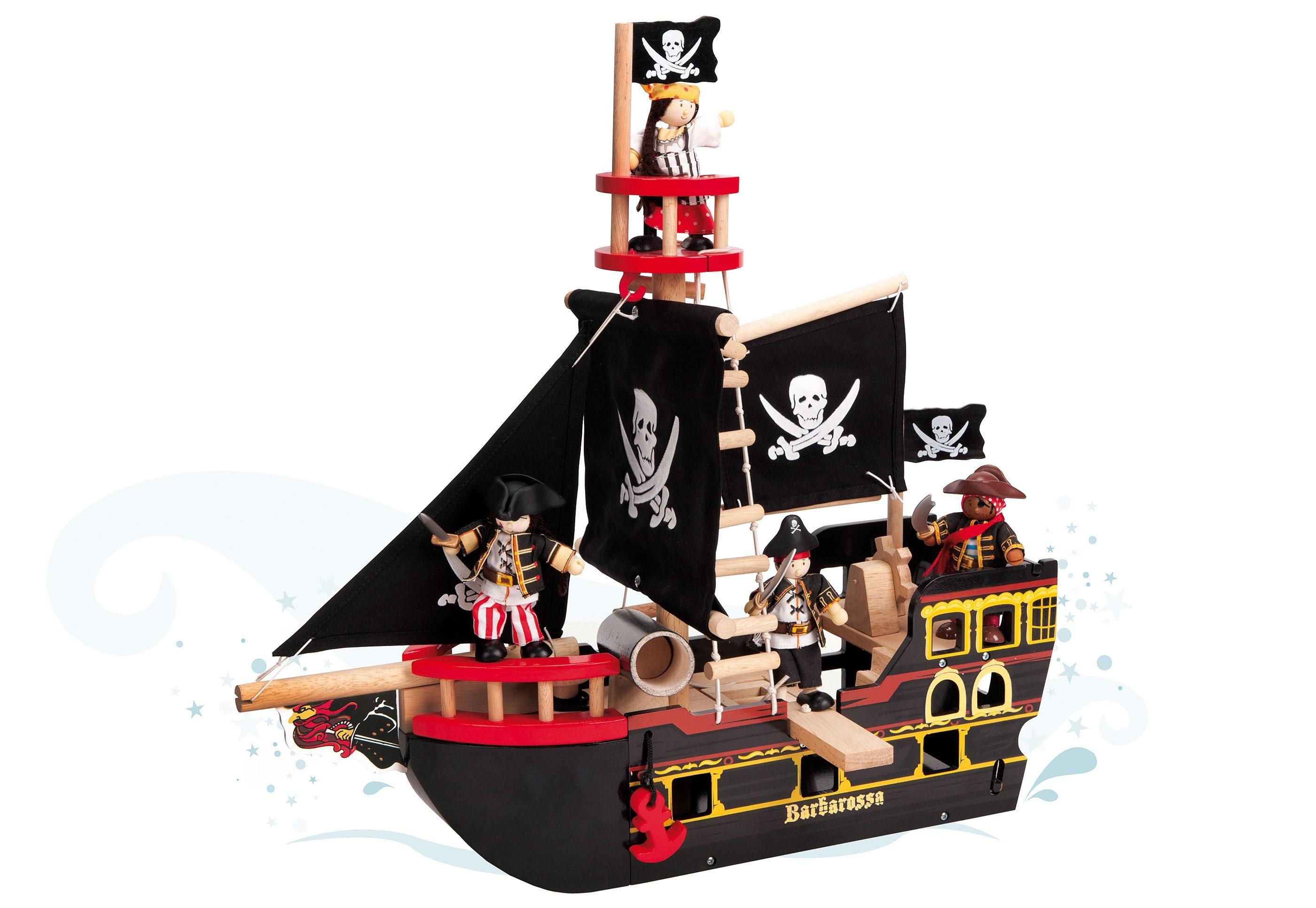 Piratenschiff aus Holz, »Barbarossa«