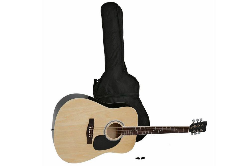 Gitarre 4/4, »Westerngitarre in Dreadnought-Form« in natur