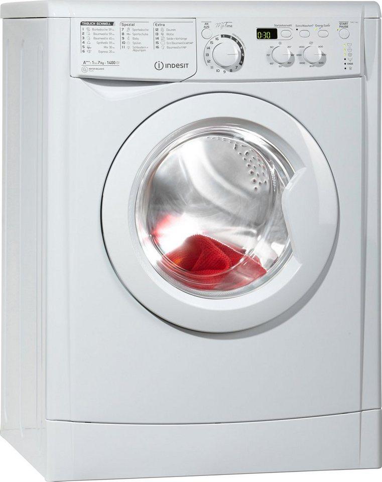 Indesit Waschmaschine EWD 71483 W DE, A+++, 7 kg, 1400 U/Min in weiß