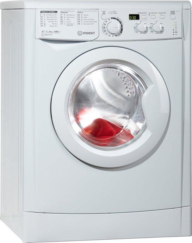 Indesit Waschmaschine EWD 61483 W DE, A+++, 6 kg, 1400 U/Min in weiß