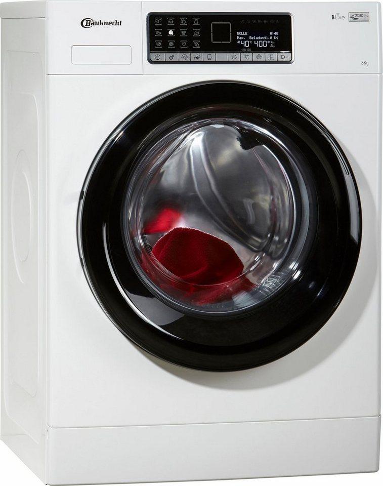 BAUKNECHT Waschmaschine WM Style 824 ZEN KONNEKT, A+++, 8 kg, 1400 U/Min