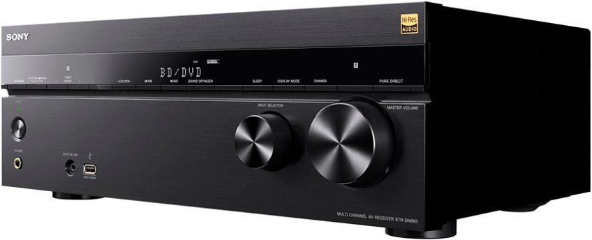 Sony STR-DN860, Multiroom 7.2 AV-Receiver (Hi-Res, 3D, Airplay, WLAN, Bluetooth, NFC) in schwarz