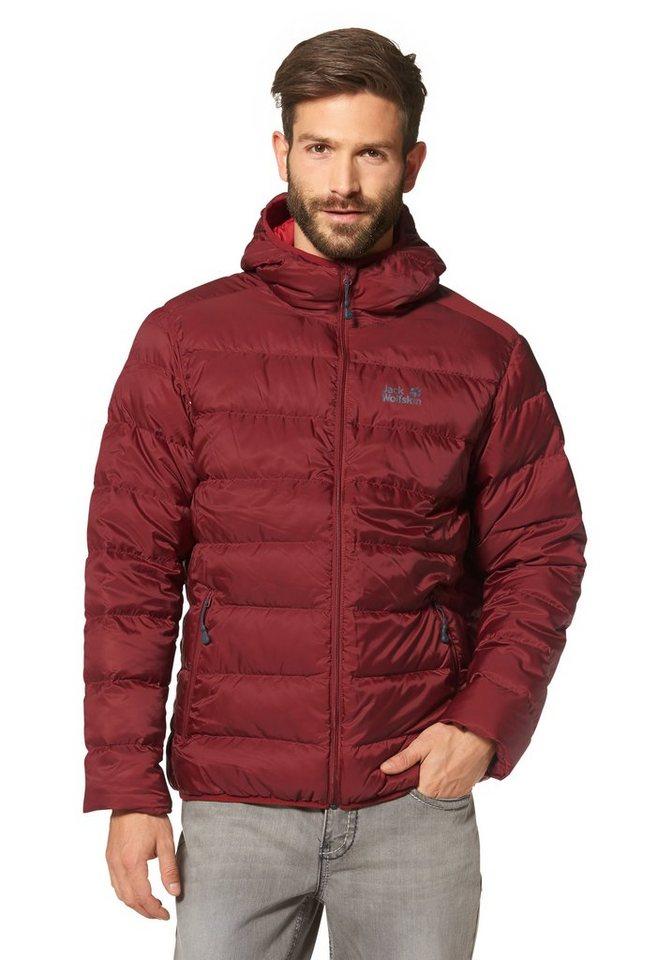 Jack Wolfskin Nordfjord Jacket Men Daunenjacke in Rot